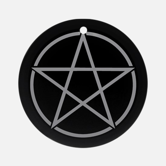 Grey Pentacle Ornament (Round)