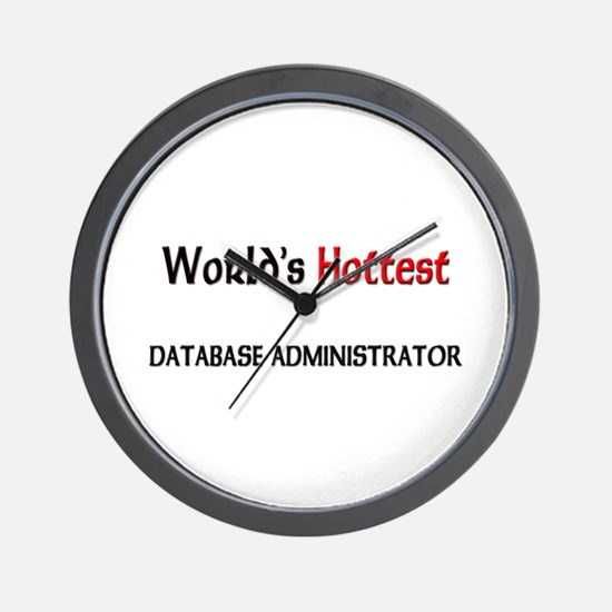 World's Hottest Database Administrator Wall Clock