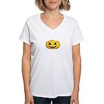 Pumpkin kid Women's V-Neck T-Shirt