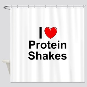 Protein Shakes Shower Curtain