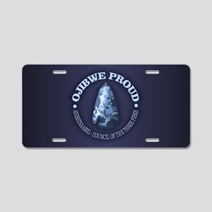 Ojibwe Proud Aluminum License Plate