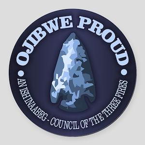 Ojibwe Proud Round Car Magnet