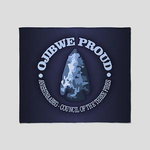 Ojibwe Proud Throw Blanket