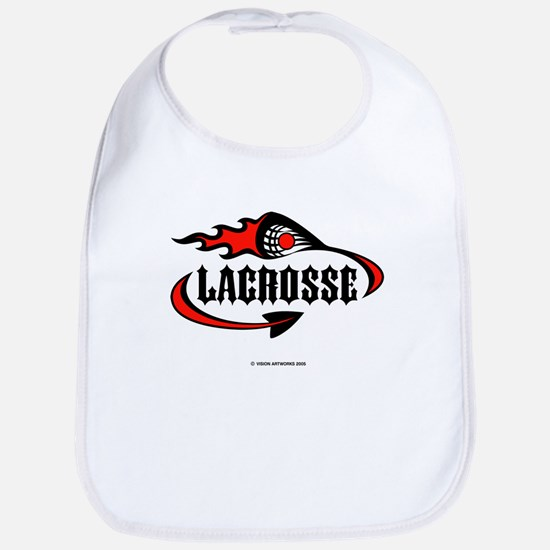 Lacrosse-Flaming Stick Design. Bib