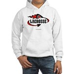 Lacrosse-Flaming Stick Design. Hooded Sweatshirt