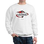 Lacrosse-Flaming Stick Design. Sweatshirt