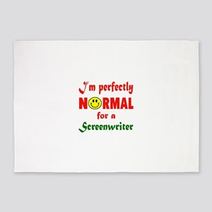 I'm perfectly normal for a Screenwr 5'x7'Area Rug