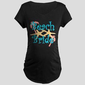 Beach Bride Maternity Dark T-Shirt