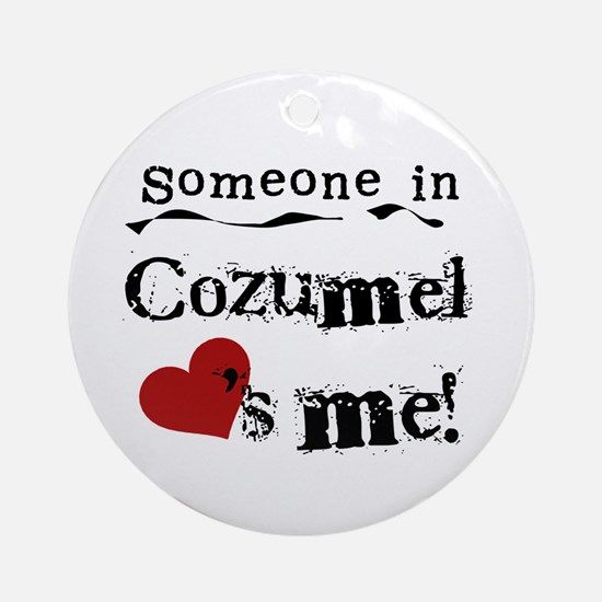 Someone in Cozumel Ornament (Round)