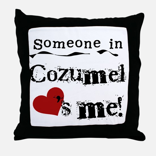 Someone in Cozumel Throw Pillow