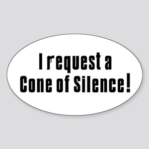 Cone of Silence Get Smart Oval Sticker