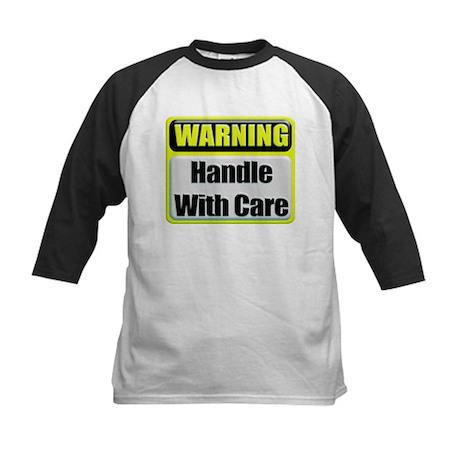 Handle With Care Warning Kids Baseball Jersey