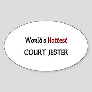 World's Hottest Court Jester Oval Sticker