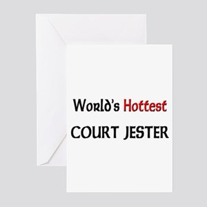 World's Hottest Court Jester Greeting Cards (Pk of