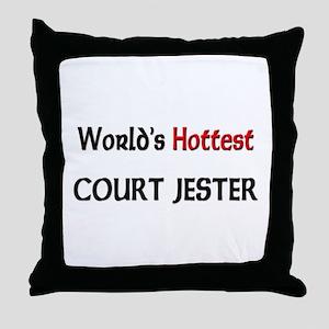 World's Hottest Court Jester Throw Pillow