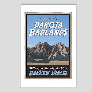 Dakota Badlands Bakkan Shale Postcards (Package of