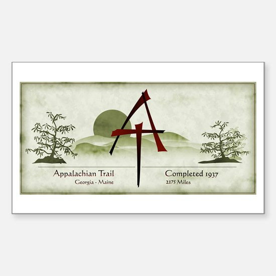 Earthy Asian Appalachian Trail Rectangle Decal