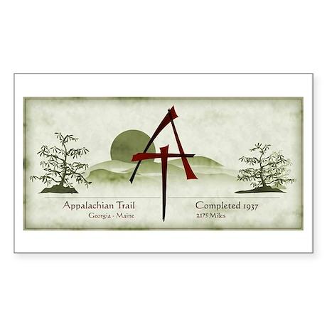 Earthy Asian Appalachian Trail Rectangle Sticker
