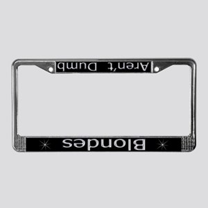 Blondes Aren't Dumb 'Chrome' License Plate Frame