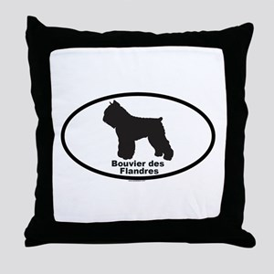 BOUVIER DES FLANDRES Throw Pillow