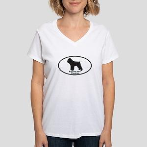 BOUVIER DES FLANDRES Womens V-Neck T-Shirt