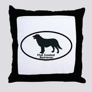 FLATCOATED RETRIEVER Throw Pillow