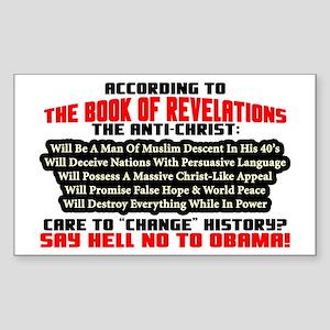 """The Anti-Christ: Obama"" Sticker"
