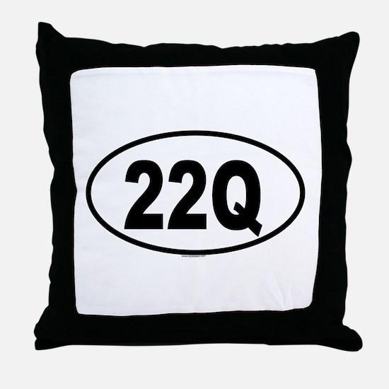 22Q Throw Pillow