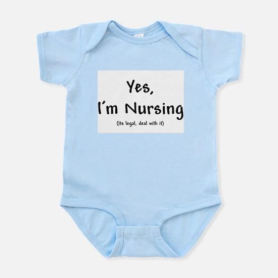 Yes, I'm nursing Infant Creeper