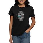 wordle design Women's Dark T-Shirt