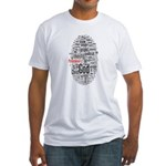 wordle design Fitted T-Shirt