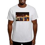 Nighttime on Bridge. Ash Grey T-Shirt