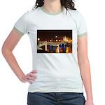 Nighttime on Bridge. Jr. Ringer T-Shirt