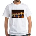 Nighttime on Bridge. White T-Shirt