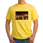 Nighttime on Bridge. Yellow T-Shirt