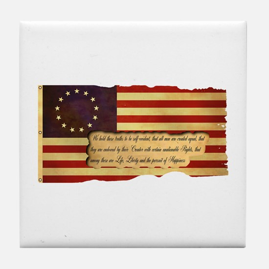 Old Glory Tile Coaster