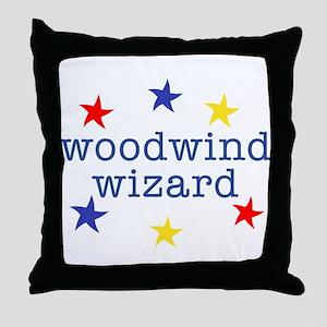 Woodwind Wizard Throw Pillow