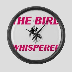 The bird Whisperer Large Wall Clock