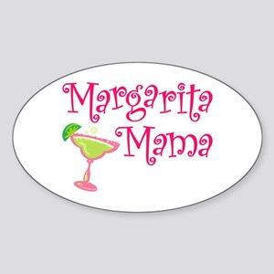 Margarita Mama Oval Sticker