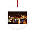 Nighttime on Bridge. Keepsake (Round)
