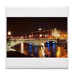 Nighttime on Bridge. Tile Coaster