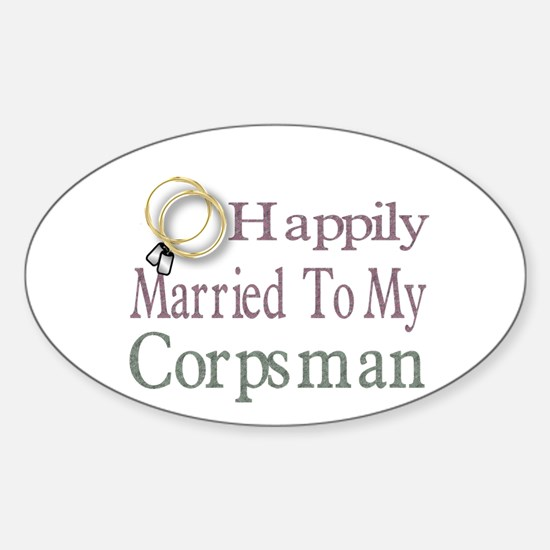 happily married to Oval Decal