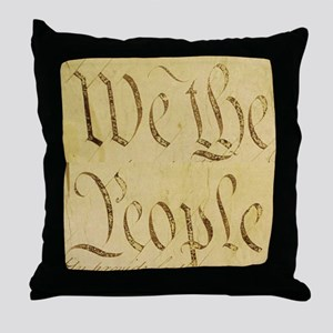 We the People II Throw Pillow
