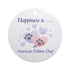 Happiness is...an American Eskimo Dog Keepsake (Ro