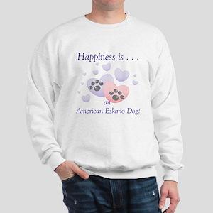 Happiness is...an American Eskimo Dog Sweatshirt