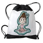 littleanimeballerina Drawstring Bag