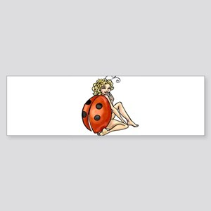 ladybird art Bumper Sticker