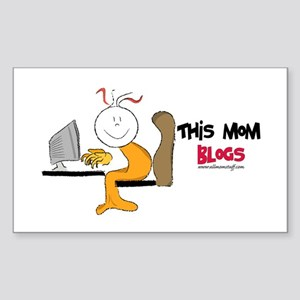 This mom blogs Rectangle Sticker