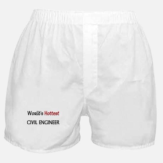 World's Hottest Civil Engineer Boxer Shorts