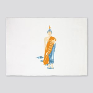 Standing Buddha (White) 5'x7'Area Rug